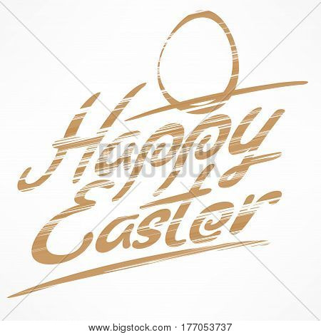 Happy Easter Bronze Lettering