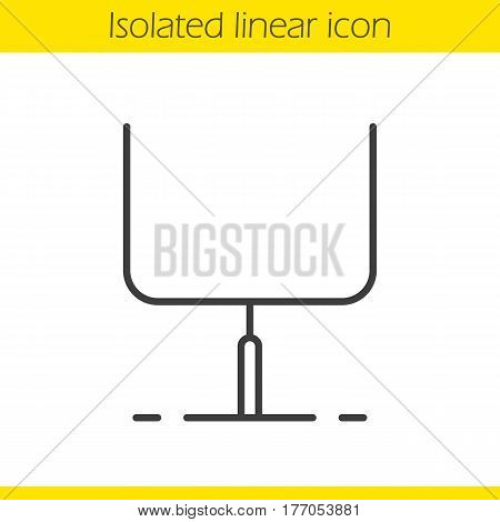 American football gates linear icon. Thin line illustration. Rugby gates contour symbol. Vector isolated outline drawing