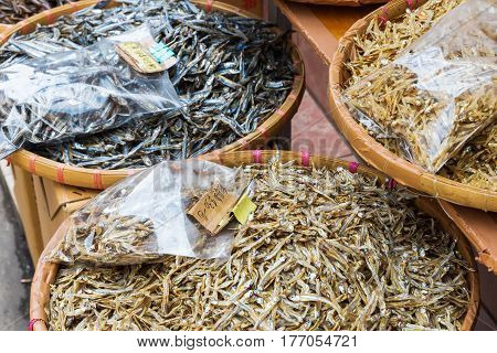 Shop With Dried Fishes In Tai O, Hongkong