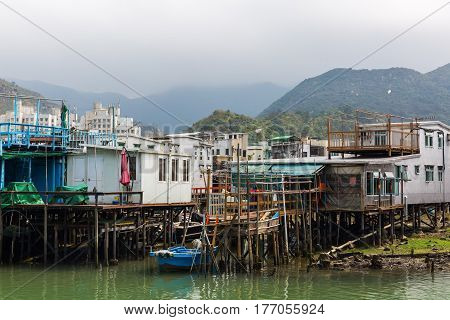 Stilt Houses In Tai O On Lantau Island, Hongkong