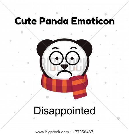 Panda sad Emoji. Chinese bear sadness or disappointed emotion isolated. Panda emoji illustrations isolated. Emoticon character cartoon Panda stickers emoticons with sad emotion for site, info graphic, video, animation, websites, e-mails, newsletters, repo