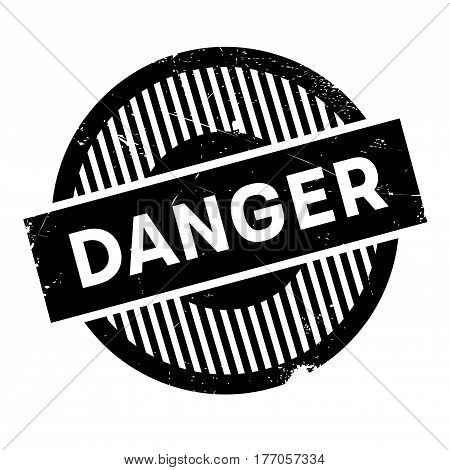 Danger rubber stamp. Grunge design with dust scratches. Effects can be easily removed for a clean, crisp look. Color is easily changed.