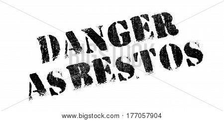 Danger Asbestos rubber stamp. Grunge design with dust scratches. Effects can be easily removed for a clean, crisp look. Color is easily changed.