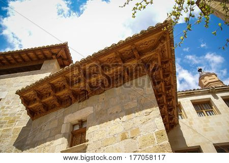 Architectural details at Molinos, Teruel, Aragon, Spain