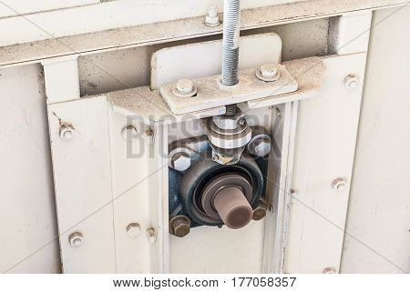 Closeup to Tension Adjuster Bearing of Machine