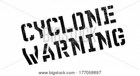 Cyclone Warning rubber stamp. Grunge design with dust scratches. Effects can be easily removed for a clean, crisp look. Color is easily changed.