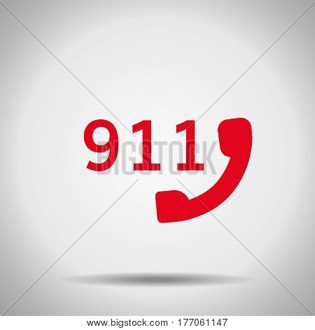 911 icon isolated with shadow Alert symbol