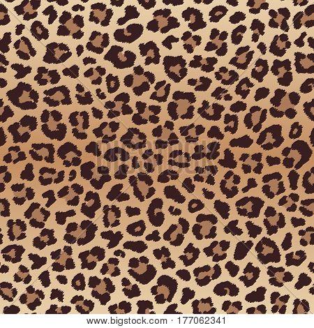 Leopard seamless pattern, imitation of leopard skin. Vector illustration