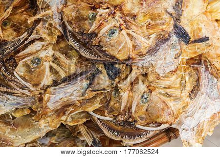 Picture Of Put Down Dried Monkfishes