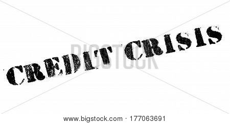 Credit Crisis rubber stamp. Grunge design with dust scratches. Effects can be easily removed for a clean, crisp look. Color is easily changed.