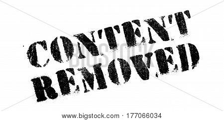 Content Removed rubber stamp. Grunge design with dust scratches. Effects can be easily removed for a clean, crisp look. Color is easily changed.