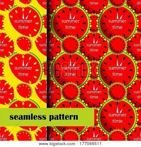 set of seamless pattern wirh Watermelon. vector