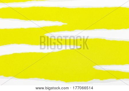 Ripped yellow paper copy space for your text