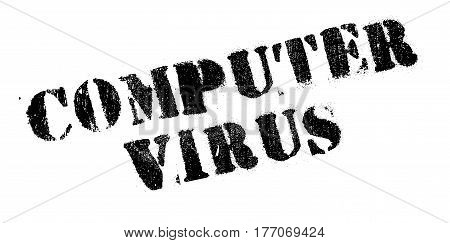 Computer Virus rubber stamp. Grunge design with dust scratches. Effects can be easily removed for a clean, crisp look. Color is easily changed.