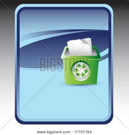 recycle bin on blue background