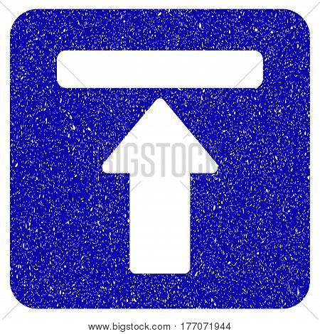 Grunge Expand Menu rubber seal stamp watermark. Icon symbol with grunge design and unclean texture. Unclean vector blue sticker.