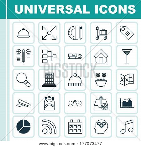 Set Of 25 Universal Editable Icons. Can Be Used For Web, Mobile And App Design. Includes Elements Such As Decision Making, Crotchets, Wifi And More.