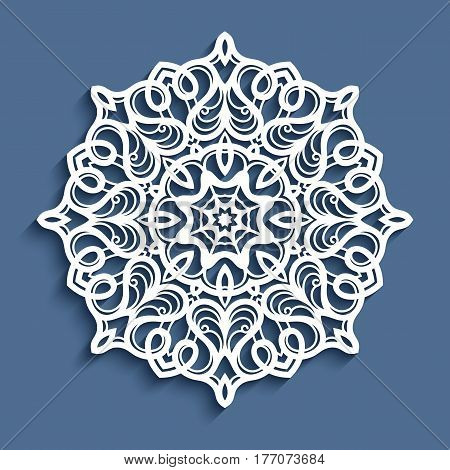 Paper lace doily decorative snowflake mandala laser cut round ornament
