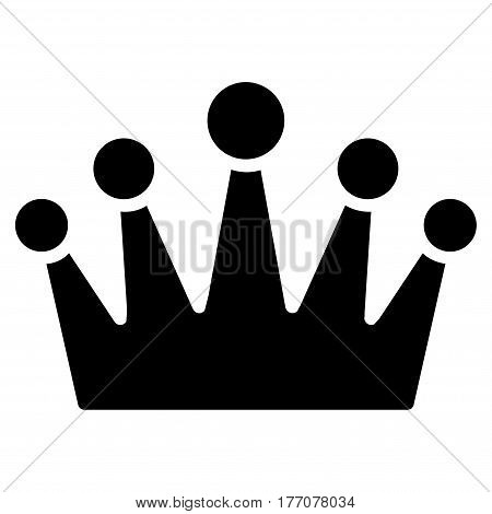 Crown vector icon. Flat black symbol. Pictogram is isolated on a white background. Designed for web and software interfaces.