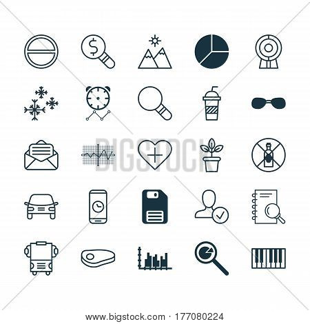 Set Of 25 Universal Editable Icons. Can Be Used For Web, Mobile And App Design. Includes Elements Such As Piano, Add To Favorites, Soda And More.