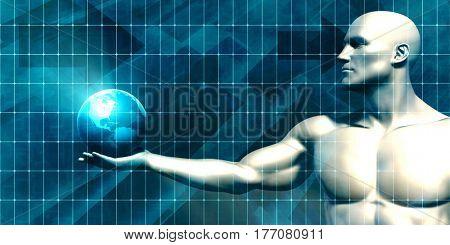 Security Network Grid for Surveillance as a Concept 3D Illustration Render