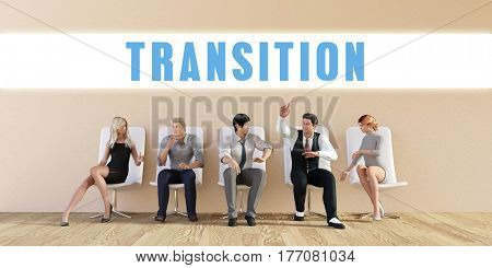 Business Transition Being Discussed in a Group Meeting 3D Illustration Render