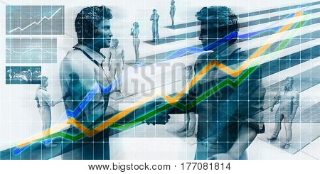 Technology Startup Funding Company as a Business Concept 3D Illustration Render