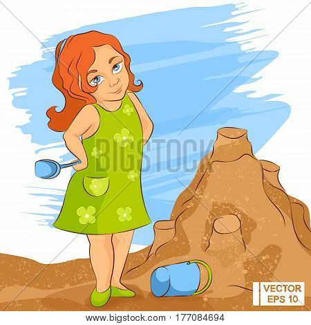Sweet Girl In A Sandbox