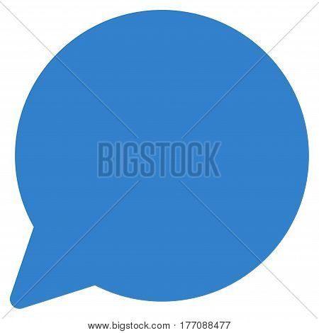 Hint Balloon vector icon. Flat cobalt symbol. Pictogram is isolated on a white background. Designed for web and software interfaces.