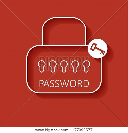Outline web form to access the site. Password and lock. Mobile and web applications.
