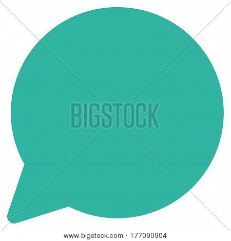Hint Balloon vector icon. Flat cyan symbol. Pictogram is isolated on a white background. Designed for web and software interfaces.