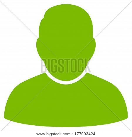 User vector icon. Flat eco green symbol. Pictogram is isolated on a white background. Designed for web and software interfaces.