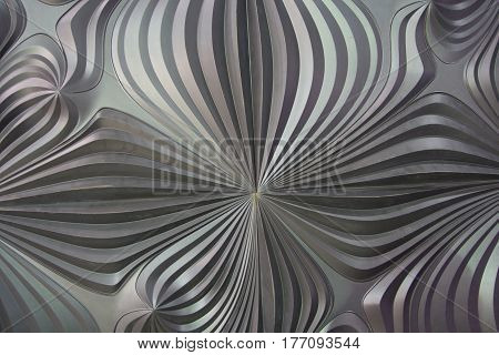 Relief stucco on the surface in the form of waves. Backgrounds and textures