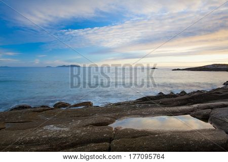 Sunset on Lanzada Beach, Galicia , Spain