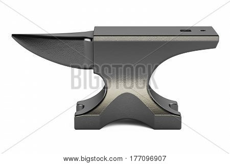 anvil closeup 3D rendering isolated on white background