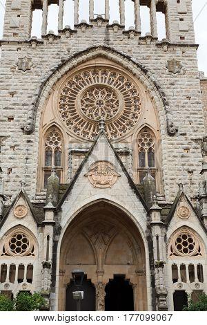 Facade of the Catholic Church on Palma de Mallorca