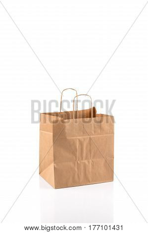 Paper Shopping Bag On White