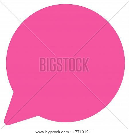 Hint Balloon vector icon. Flat pink symbol. Pictogram is isolated on a white background. Designed for web and software interfaces.
