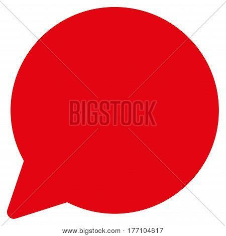 Hint Balloon vector icon. Flat red symbol. Pictogram is isolated on a white background. Designed for web and software interfaces.