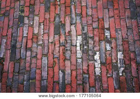 Tiled pavement texture. Abstract background.