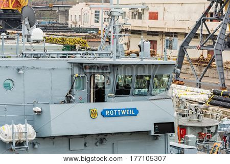 Ukraine, Odesa - March, 18, 2017: In Odessa Port Military Ships Were Moored From Junction Of The Sec
