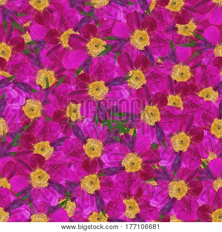Seamless Background With Multicolored Flower Petal