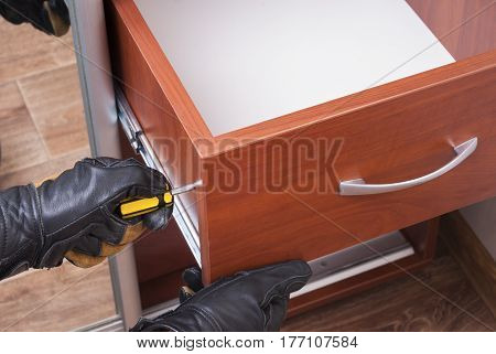 Worker Repairs Furniture