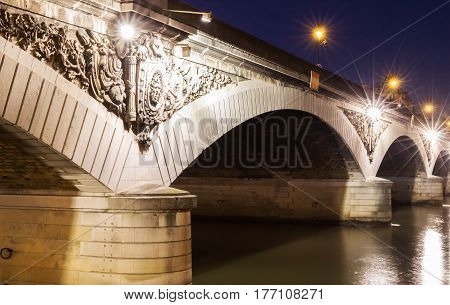 The Pont d'Austerlitz is a bridge which crosses the Seine River in Paris France. It owes its name to the battle of Austerlitz (1805).