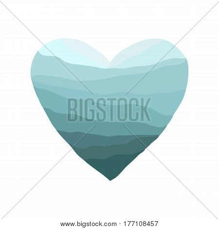 Vector blue watercolor. Valentine's day. Colorful abstract texture.