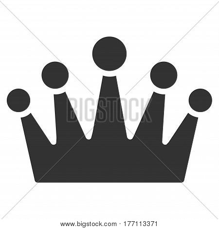 Crown vector icon. Flat gray symbol. Pictogram is isolated on a white background. Designed for web and software interfaces.