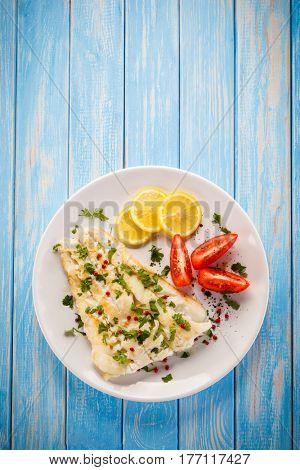 Fish dish - fried cod