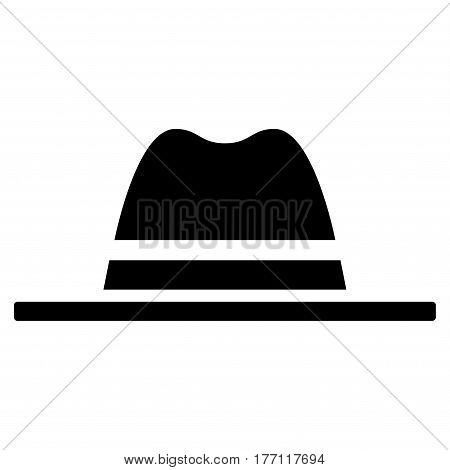 Hat vector icon. Flat black symbol. Pictogram is isolated on a white background. Designed for web and software interfaces.