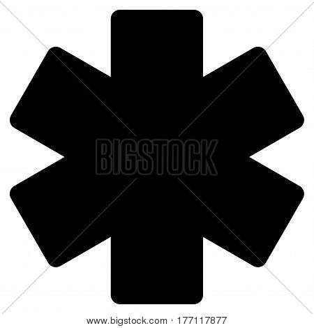 Multiply Math Operation vector icon. Flat black symbol. Pictogram is isolated on a white background. Designed for web and software interfaces.