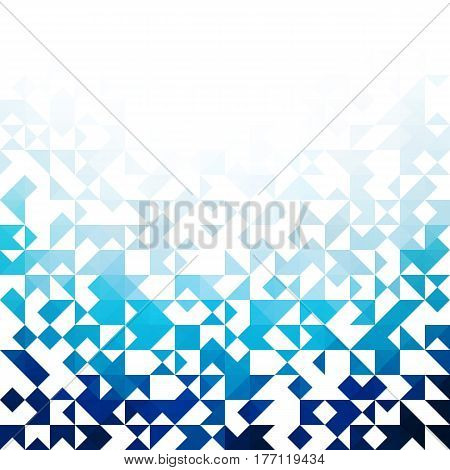 Blue abstraction, composed of blue triangle, different shades Vector eps10